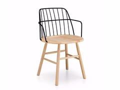 Sedia in acciaio e legno con braccioliSTRIKE P   Sedia con braccioli - MIDJ