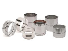 ATRITUBE, Connettori canna fumaria Collare e supporto per canalizzazione in acciaio inox