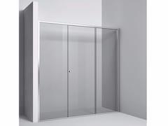 Rexa Design, Chiusura con vetro fisso anta scorrevole Chiusura a nicchia con vetro fisso e anta scorrevole
