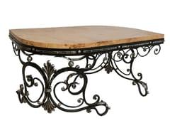 Tavolino basso in acciaio e legnoTavolino - ADELFI LUXURY