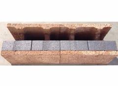 ISOTEX, Blocco ad H (Eliminazione ponti termici) Blocco portante in legno-cemento / Blocco termico in legno-cemento