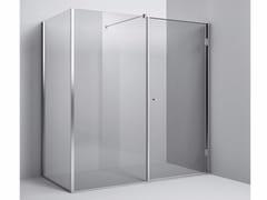 Rexa Design, Chiusura doccia angolare - anta battente Chiusura doccia angolare anta battente e vetro fisso