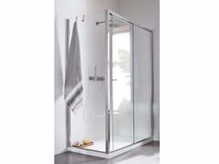 Rexa Design, Chiusura doccia ad angolo - Scorrevole Chiusura doccia ad angolo con anta scorrevole