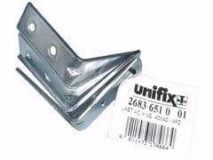 Lastrine angolari nervate fascettate in acciaio zincatoLastrine angolari nervate fascettate - UNIFIX SWG
