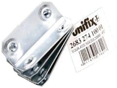 Piastre fissaggio angolare leggere fascettatePiastre fissaggio angolare fascettate - UNIFIX SWG
