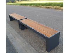 Panca da giardino modulare in acciaio e legnoSTEELAB - ATELIER SO GREEN