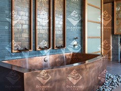 Diamond Spas, Vasca da bagno in rame Vasca da bagno rettangolare in rame