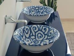 Lavabo da appoggio in ceramica decoratoDÉCO BOLL   Lavabo da appoggio - CERAMICA FLAMINIA