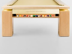 Tavolo da biliardo rettangolare in aceroDÉCO NEW YORK - NUEVEPIES BARCELONA
