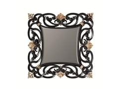 BLEU PROVENCE, DAHLIA Specchio quadrato in legno con cornice