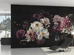 Carta da parati lavabile con motivi florealiDAHLIA - WALLYART