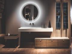 Mobile bagno in Dualite® con cassetti in noceDAMA | Mobile bagno - ARTELINEA