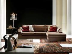 Divano componibile in velluto con chaise longueDANDY | Divano con chaise longue - FORMER IN ITALIA