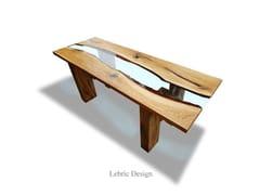 Tavolo in resina e legnoDANUBIO - ANTICO TRENTINO DI LUCIO SEPPI