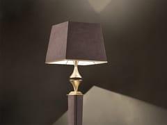 Lampada da terra a luce diretta e indiretta in ecopelle in stile modernoDARSHAN STL1 - MASIERO