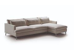 Divano letto in tessuto a 3 posti con chaise longue DAVE | Divano letto con chaise longue -
