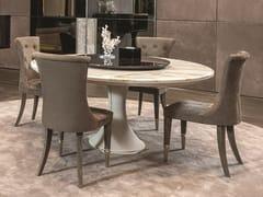 Tavolo rotondo in marmo con Lazy Susan DAVID | Tavolo con Lazy Susan - Loveluxe - Essence