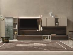 Parete attrezzata componibile in rovere con porta tvDAY MOOVE | Composizione M104 - TOMASELLA IND. MOBILI