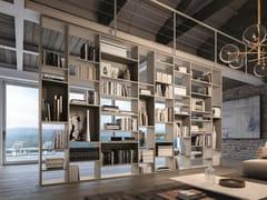 Libreria a giorno divisoria laccata in legno DAY SYSTEM 01 - Day System