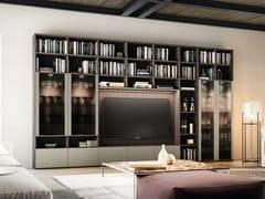 Libreria a parete con cassetti con porta tv DAY SYSTEM 02 - Day System