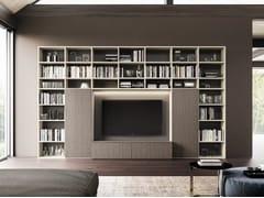 Libreria a parete in legno con porta tv DAY SYSTEM 05 - Day System