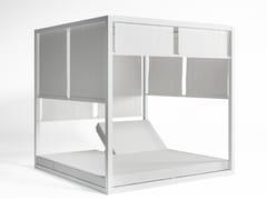 Letto da giardino matrimoniale reclinabile in alluminio termolaccato a baldacchino DAYBED | Letto da giardino a baldacchino - Daybed
