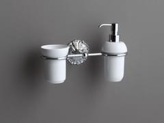Dispenser sapone / portaspazzolino in ceramicaDECOR | Portaspazzolino in ceramica - BLEU PROVENCE