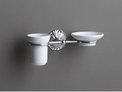 Portasapone / portaspazzolino in ceramicaDECOR | Portasapone in ceramica - BLEU PROVENCE