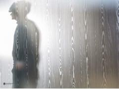 Parete mobile in vetro decorato DECORFLOU® DESIGN NANTAHALA -