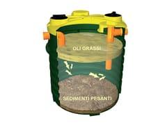 Separatore di grassi vegetali in polietelieneDEGRASSATORE | Setti trappola - ROTOTEC