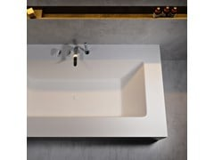 Vasca da bagno rettangolare in Corian®DELIGHT 8410 - RILUXA