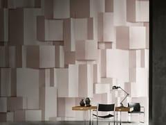 Inkiostro Bianco, DELPHOS Carta da parati geometrica optical panoramica in fibra di vetro EQ Dekor in stile moderno