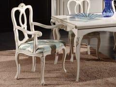 Sedia imbottita con schienale apertoDESIREE | Sedia con braccioli - ARVESTYLE