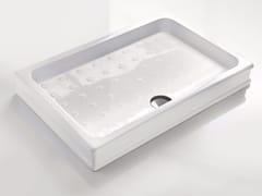 Piatto doccia antiscivolo rettangolare in ceramicaDEVON - BATH&BATH