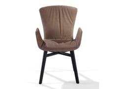 Sedia in nabuk con braccioli DEXTER | Sedia in nabuk -