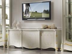 Mobile TV basso in legno con ante a battenteDIAMANTE | Mobile TV - LINEA & CASA +39