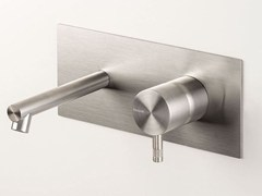 Miscelatore per lavabo a muro in acciaio inox DIAMETRO35 INOX | Miscelatore per lavabo a muro - Diametro35 Inox
