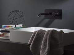 Miscelatore per lavabo a muro DIAMETRO35 | Miscelatore per lavabo con piastra - Diametro35