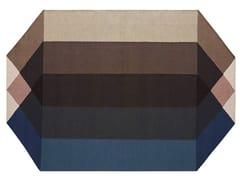 Tappeto in PET riciclato a motivi geometriciDIAMOND BLUE-BROWN - GAN BY GANDIA BLASCO