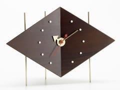 Orologio da tavolo in noceDIAMOND CLOCK - VITRA