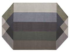 Tappeto in PET riciclato a motivi geometriciDIAMOND GREEN-GREY - GAN BY GANDIA BLASCO
