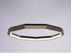 Lampada a sospensione a LED a luce diretta in alluminio DIAMOND LUXENNEA SERIES 2 -