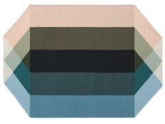 Tappeto in PET riciclato a motivi geometriciDIAMOND NUDE-PETROL - GAN BY GANDIA BLASCO