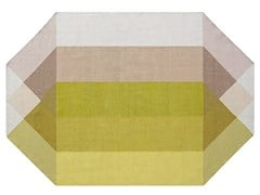 Tappeto in PET riciclato a motivi geometriciDIAMOND PINK-YELLOW - GAN BY GANDIA BLASCO