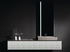 Mobile lavabo sospeso in legno e marmoDIAMOND VANITY - BAUTEAM