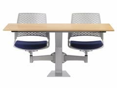 Banco modulare studio in MDF con sedie integrateDIDAKTA SQUARE D 20 - TALIN