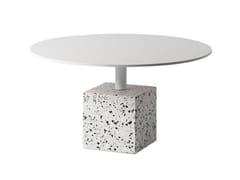 Tavolino rotondo in terrazzo veneziano con piano in acciaioDING   Tavolino rotondo - BENTU DESIGN