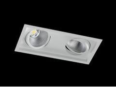 Faretto a LED multiplo in alluminio verniciato a polvere da incasso DION II FLEX -