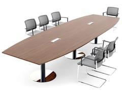 Tavolo da riunione ovale DISC BASE | Tavolo da riunione ovale - Ogi