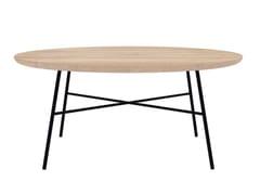 Tavolino da caffè rotondo in rovere OAK DISC | Tavolino - Oak Disc